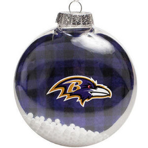 NFL RAVENS Logo Holiday Christmas Tree Ornament